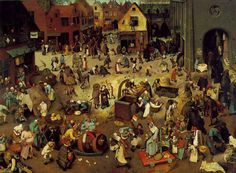 謝肉祭と四旬節の喧嘩 The Fight Between Carnival and Lent [ ピーテル・ブリューゲル Pieter Bruegel the Elder ]