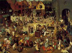 謝肉祭と四旬節の喧嘩 The Fight Between Carnival and Lent [ ピーテル・ブリューゲル Pieter Bruegel the Elder ]