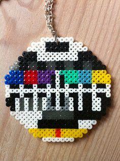 Mini Hama beads necklace - by Byskov