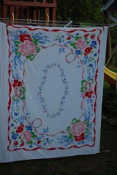 Vintage Tablecloth   Flickr - Photo Sharing!