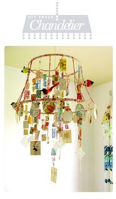 Suspension faite avec les dessins de ses enfants!! genial pour une chambre d'enfant!! à faire!! sans hésiter