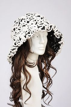 White crocheted cloche hat by MargeIilane on Etsy, $85.00