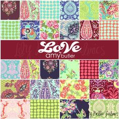 Amy Butler's fabrics are always so beautiful.  I love all the prints in this line.