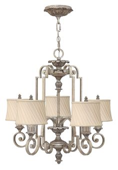 Buy the Fredrick Ramond Silver Leaf Direct. Shop for the Fredrick Ramond Silver Leaf 5 Light 1 Tier Chandelier from the Kingsley Collection and save. 5 Light Chandelier, Antique Chandelier, Chandelier Shades, Pendant Chandelier, Ceiling Pendant, Outdoor Light Fixtures, Ceiling Light Fixtures, Light Fittings, Ceiling Lights