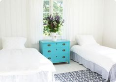 White. Not my style but gorgeous for a beach house!!!