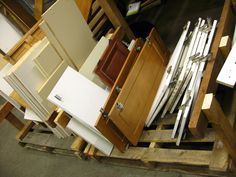 $1 Shelves and Cabinet Doors