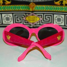 28b0b6f580 vintage GIANNI VERSACE Pink Croc Mod 418 P Col 930 Sunglasses as seen on  RIHANNA