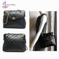 #Chanel #vintage Bag Black Colour Caviar With Gold Hardware Good Condition Ref.code-(KKOT-7)
