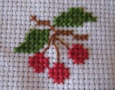 Tiny Cross Stitch, Cross Stitch Fruit, Cross Stitch Kitchen, Cross Stitch Borders, Cross Stitch Flowers, Cross Stitch Designs, Cross Stitching, Cross Stitch Patterns, Hand Embroidery Videos