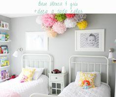 Habitación infantil compartida chico-chica | La Garbatella: blog de decoración, estilo nórdico.