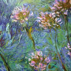 Agapanthus (detail) by Claude Monet.