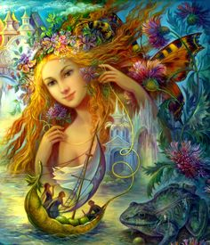Water faery by Fantasy-fairy-angel on DeviantArt * Fairy Myth Mythical Mystical Legend Elf Faerie Fae Wings Fantasy Elves Faries Sprite Nymph Pixie Faeries Hadas Enchantment Forest Whimsical Whimsy Mischievous Josephine Wall, Fairy Paintings, Fantasy Paintings, Fantasy Kunst, Fantasy Art, Fantasy Fairies, Fantasy Images, Art Magique, Water Fairy