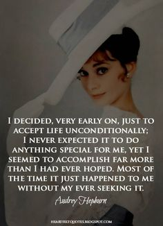 Heartfelt Quotes: Audrey Hepburn Quotes