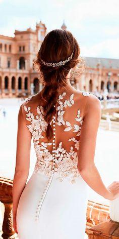 24 Trend-Setting Tattoo Effect Wedding Dresses ❤ See more: http://www.weddingforward.com/tattoo-effect-wedding-dresses/ #wedding