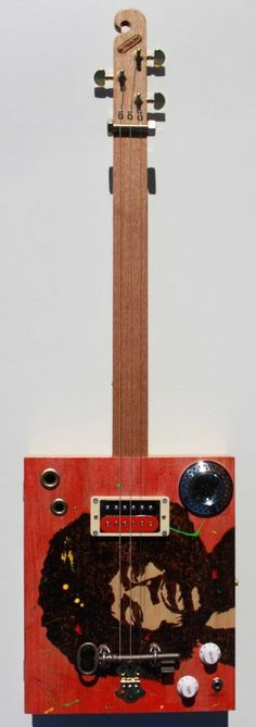 Jimi Hendrix Cigar Box Guitar