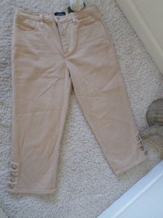 NOT YOUR DAUGHTER'S JEANS CAPRI 8~NYDJ LIFT TUCK RELAXED FIT CROP 8~95%NEW #NotYourDaughtersJeans #CapriCropped