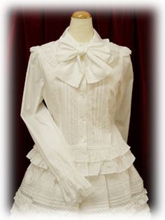 DIY Lolita :: Blouses tutorial from goodwill blouse