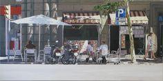 Bar El Pozo, Barcelona Times Square, Barcelona, Street View, Van, Travel, Painting, Water Well, Viajes, Vans