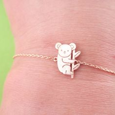 - Description - Details A beautiful animal themed bracelet made with a small charm in the shape of a koala bear in rose gold! Matching necklace available in our store! Store FAQ | Shipping Info | Retu