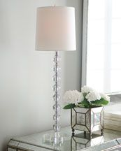 Buffet lamp with glass bubbles