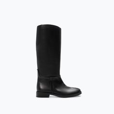Image 1 of LEATHER RIDING BOOT from Zara