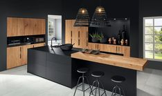 The 37 best black kitchens kitchen trends you need to see 7 Kitchen Design Small, Modern Kitchen Interiors, Luxury Kitchens, Kitchen Design, Modern Kitchen, Kitchen Room Design, Kitchen Interior, Dream Kitchens Design, Minimalist Kitchen