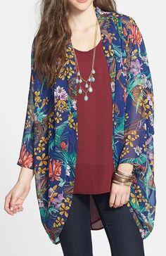 Hot & Delicious Floral Chiffon Kimono Jacket