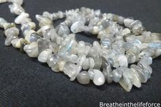 Grey Labradorite Chip Beads Crystal information uses and Grey Labradorite Chip Beads benefits Breathe In The Lifeforce Your #1 Audio Affirmations and Crystal Database.