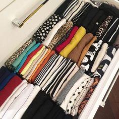 seu guarda roupa organizado: gavetas