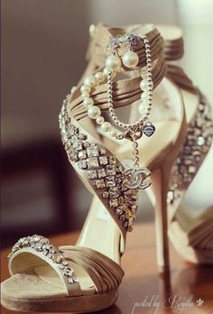 Regilla ⚜ Jimmy Choo + Chanel. I wouldn't wear these, just get them to look at :). (http://loseweightfast.thevirtumall.com)