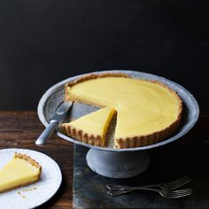 This bright citrus tart is a terrific version of the classic and wonderfully easy: The lemony custard is poured right into the baked tart shell and chilled.