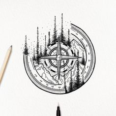 Amazing Compass and Mountain Tattoo Sketch - Amazing Compass and . - Amazing Compass and Mountain Tattoo Sketch – Amazing Compass and Mountain Tattoo Sketch – – # - Forest Tattoos, Nature Tattoos, Body Art Tattoos, Small Tattoos, Sleeve Tattoos, Tattoos For Guys, Key Tattoos, Heart Tattoos, Tatoos