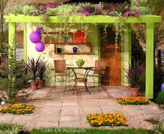 Summer decorating trends bring exciting, colorful, and beautiful ideas for comfortable and stylish backyard designs Outdoor Beds, Outdoor Rooms, Outdoor Decor, Outside Sheds, Weekend Cottages, Wooden Gazebo, Small Yard Landscaping, Modern Outdoor Furniture, Earthship