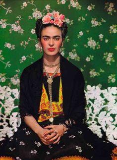 Frida Kahlo - Retrato - 1938 Fotografia da artista mexicana tirada pelo fotógrafo Nickolas Muray em 1938.