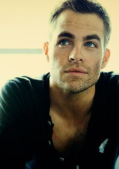 Why, hello, Christian Grey... aka Chris Pine