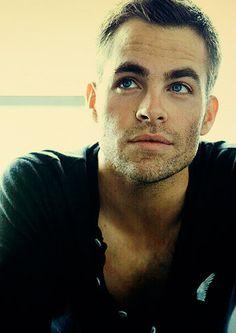 Why, hello, Christian Grey... aka Chris Pine