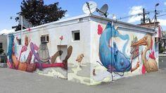 夏威夷藝術家 Ekundayo 在美國紐澤西的最新壁畫作品  New mural finished by @sorrowbecomesjoy in Secaucus NJ  #powwow #graffiti #powwowtaiwan #art #mural #newjersey #streetart #街頭藝術 #彩繪 #壁畫 by powwowtaiwan