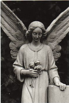 Cemetery angel by Rachelous Cemetery Monuments, Cemetery Statues, Cemetery Art, Angel Statues, Steinmetz, Cemetery Angels, Angel Sculpture, I Believe In Angels, My Guardian Angel