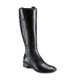 Sleek, polished, black riding boots