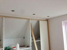 Built In Closet Walls angled ceiling | IKEA Hackers: Pax Built-in for sloping ceiling