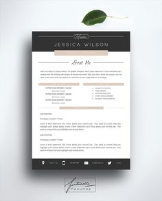 Resume Template 3 page / CV Template Cover от FortunelleResumes ---CLICK IMAGE FOR MORE--- resume how to write a resume resume tips resume examples for student Resume Cv, Resume Tips, Resume Writing, Resume Examples, Resume Ideas, Resume Format, Resume Design Template, Cv Template, Resume Templates