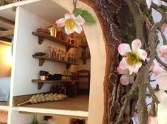 This is excellent. Bramley Hedge treehouse made from scratch!