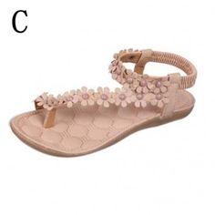 Flowers Flip Flop Sandals C Style