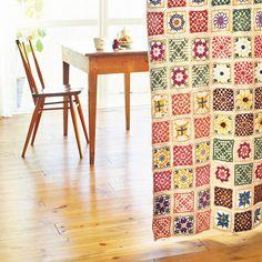 Fantástica cortina crochet!