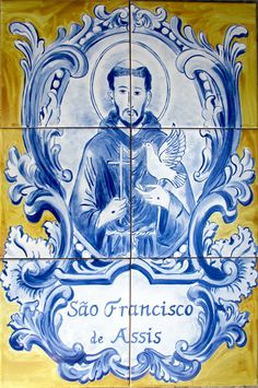 Discover & share this Animated GIF with everyone you know. GIPHY is how you search, share, discover, and create GIFs. Tile Art, Mosaic Tiles, St Francis Assisi, Textile Texture, Portuguese Tiles, Blue Tiles, Patron Saints, Hand Painted Ceramics, Art Reference