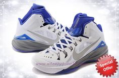 3ab0602bbcbc Nike Hyperdunk 2014 White   Gray   Blue For Wholesale
