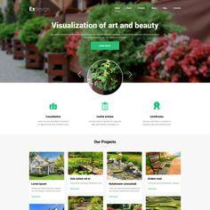 Garden Design. Parallax Joomla Template