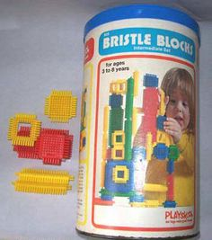 Bristle Blocks...one of my all-time fave toys...once used the skinny yellow ones as hair rollers.....my mother was not pleased