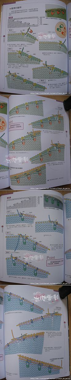 техника вязания укороченных рядов (в картинках)