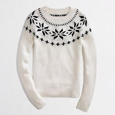 J Crew, intarsia fair isle sweater Winter Sweaters, Sweater Weather, Holiday Sweaters, Chunky Sweaters, J Crew, Winter Wardrobe, Passion For Fashion, Autumn Winter Fashion, What To Wear